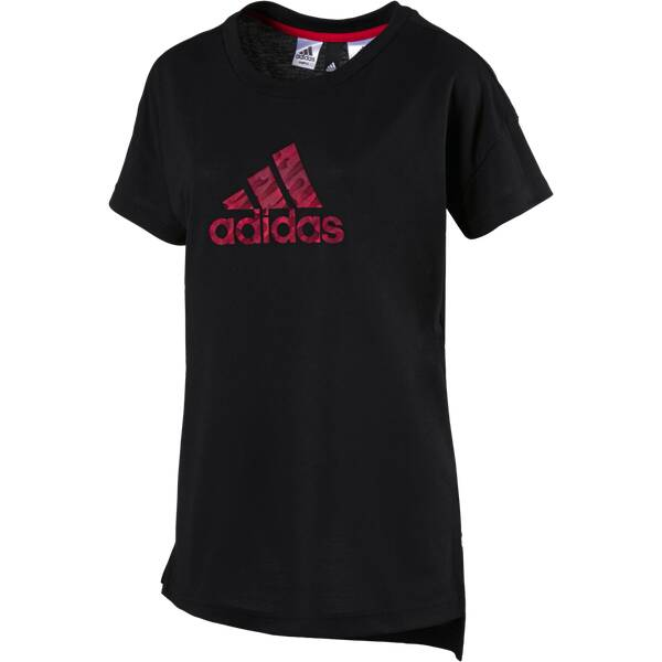 ADIDAS Damen T-Shirt Kinesics Graphic Schwarz