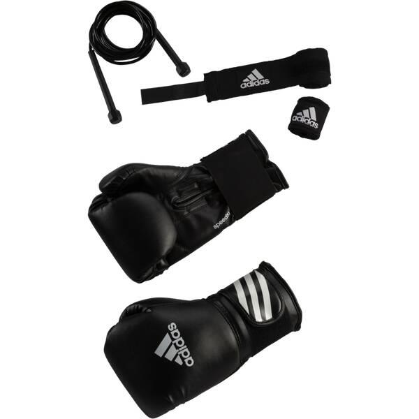 ADIDAS Boxen Set Box-Set Boxing Kit Schwarz