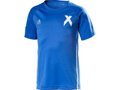 ADIDAS Kinder Shirt YB X JERSEY Blau