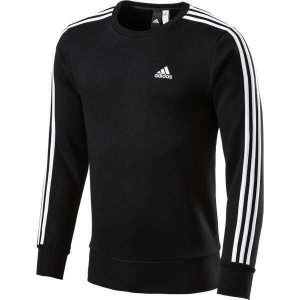 ADIDAS Herren Sweatshirt Essentials 3-Stripes Crew Fleece Langarm