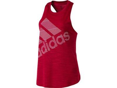 ADIDAS Damen Tanktop Badge of Sport Rot