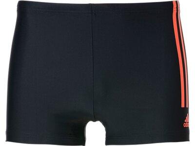 adidas Herren Semi 3-Streifen Boxer-Badehose Schwarz