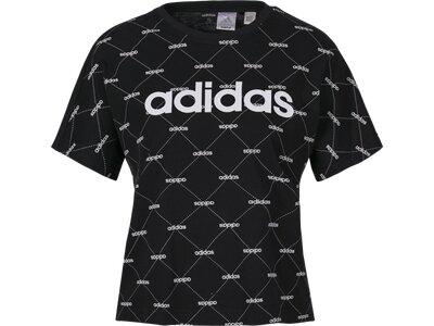 ADIDAS Damen T-Shirt Linear Graphic Schwarz