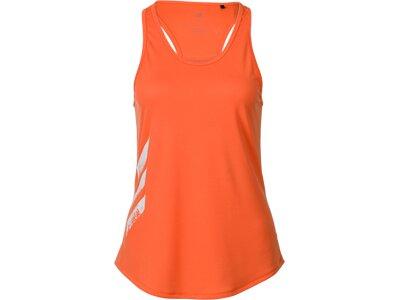 adidas Damen Own the Run 3-Streifen PB Tanktop Orange