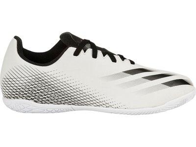 adidas Kinder Fußballschuhe X GHOSTED.4 IN Weiß