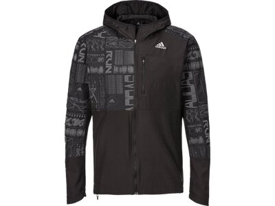 adidas Herren Kapuzenjacke OWN THE RUN Schwarz