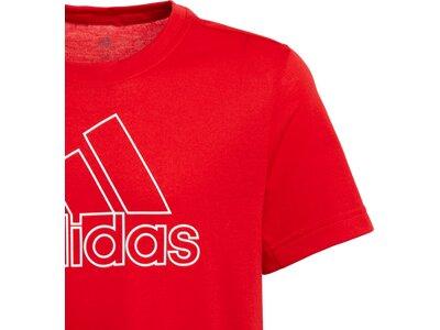 ADIDAS Kinder Trainingsshirt Prime Tee Rot