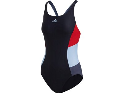 ADIDAS Damen Colorblock Badeanzug Schwarz