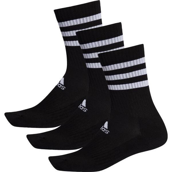 ADIDAS 3-Streifen Cushioned Crew Socken, 3 Paar