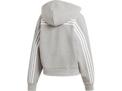 adidas Damen Kapuzenjacke Must Haves 3-Streifen Grau