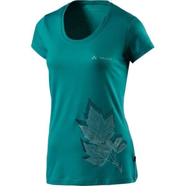 VAUDE Damen Shirt Damen T-Shirt Kulam Print Grün