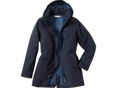 VAUDE Damen Mantel Posino Blau