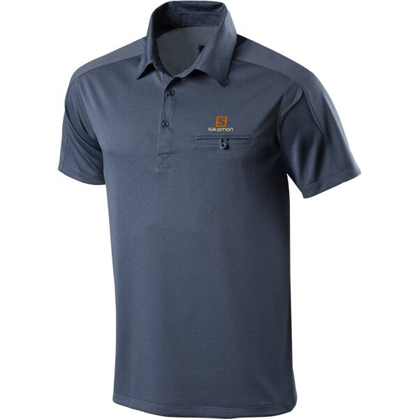 SALOMON Herren Polo June Blau