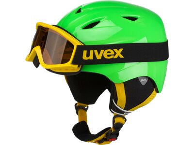 Uvex Kinder AirWing Skihelm Grün