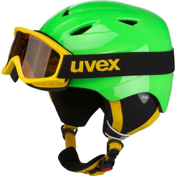 UVEX Kinder Helm AIRWING 2 SET