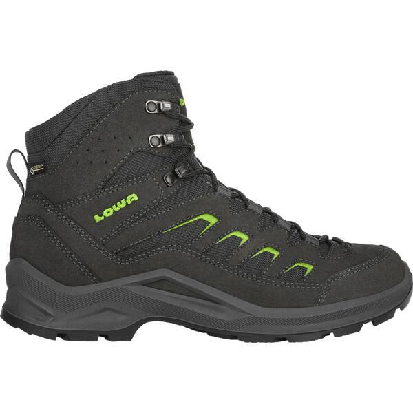 LOWA Herren Multifunktionsstiefel SESTO GTX MID | Schuhe > Outdoorschuhe > Wanderstiefel | Dunkelgrau - Lime | LOWA