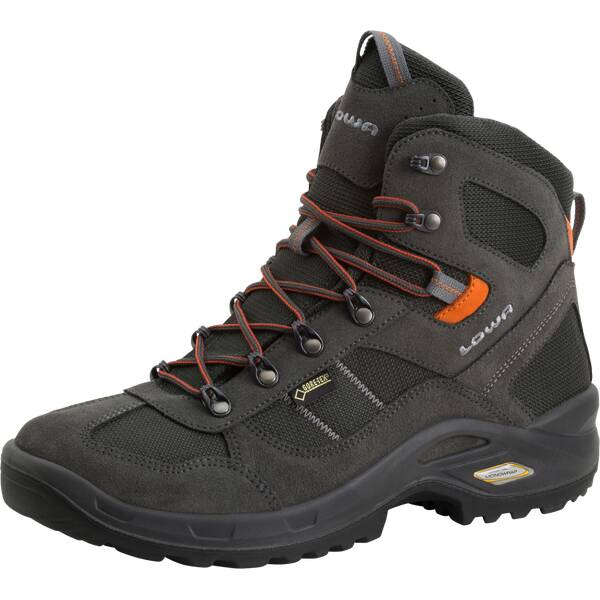 LOWA Herren Multifunktionsstiefel STRATTON GTX MID | Schuhe > Outdoorschuhe | Anthrazit - Orange | Gummi | LOWA