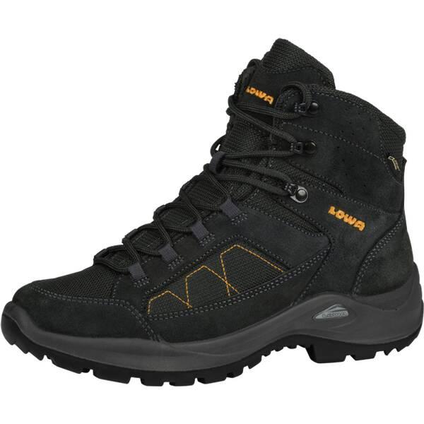 LOWA Damen Multifunktionsstiefel Toledo | Schuhe > Outdoorschuhe > Wanderstiefel | Dunkelgrau - Gelb | LOWA