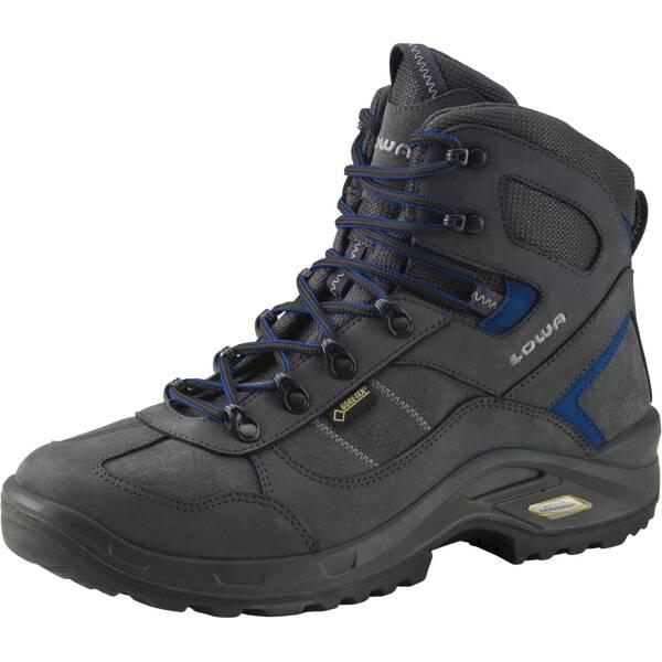 LOWA Herren Multifunktionsstiefel STRATTON DLX GTX MID | Schuhe > Outdoorschuhe > Wanderstiefel | Anthrazit - Blau | Gummi | LOWA