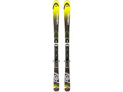 HEAD Herren All-Mountain Ski SET REV 80+PR 11 WIDE 90 Schwarz
