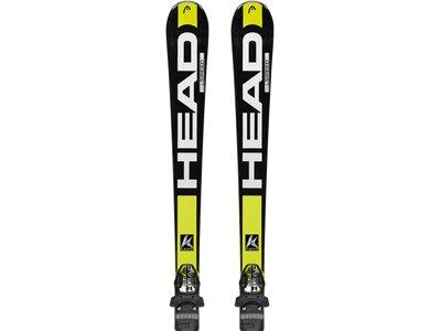 HEAD Herren Racing Ski Set Supershape Speed SW TFB+PRX 12 Schwarz