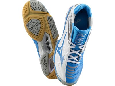 MIZUNO Damen Handballschuhe Wave Stealth 3 Blau