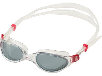 SPEEDO Schwimmbrille FUTURA PLUS GOG AU RED/SMOKE Weiß