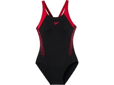 SPEEDO Damen Badeanzug BOOM SPL MSBK AF BLACK/RED Schwarz