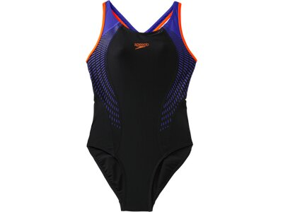 SPEEDO Damen Sw-1 Peece Fit Lnbk Af Black/orange Schwarz