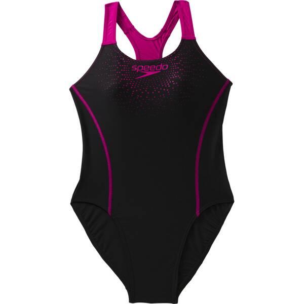SPEEDO Damen Sw-1 Peece Sports Logo Mdlt Af Black/pink