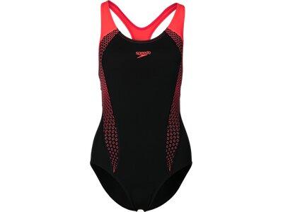 SPEEDO Damen Schwimmanzug PLMT LNBK AF Schwarz