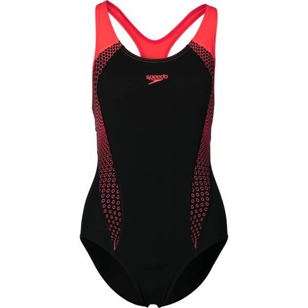 Bademode - SPEEDO Damen Schwimmanzug PLMT LNBK AF › Schwarz  - Onlineshop Intersport
