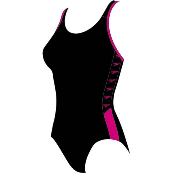 Bademode - SPEEDO Damen Schwimmanzug BOOM LOGO SPL MSBK › Schwarz  - Onlineshop Intersport