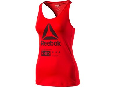 REEBOK Damen Shirt OS AC ZONED TNK Rot