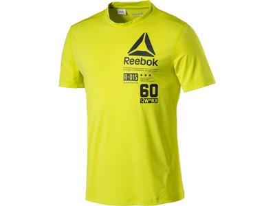 REEBOK Herren Shirt OS ACTIVCHILL GRAPHIC TOP Gelb