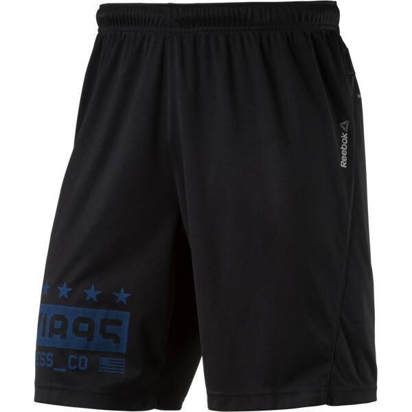 REEBOK Herren Shorts Actron Knit Schwarz