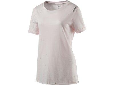 REEBOK Damen Shirt Distress Pink