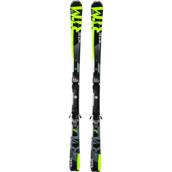 VÖLKL Herren All-Mountain Ski RTM 75 IS BLK/YELLOW + 4MOTION 10.0