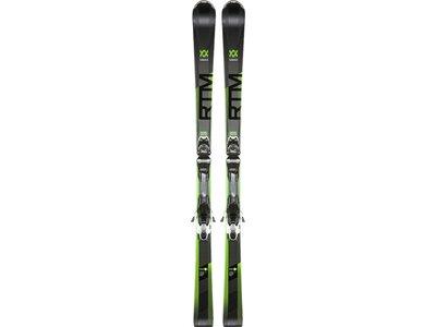 VÖLKL Kinder Racing Ski RTM 76 ELITE BLK/A.GREEN+VMOT 10 GW Schwarz