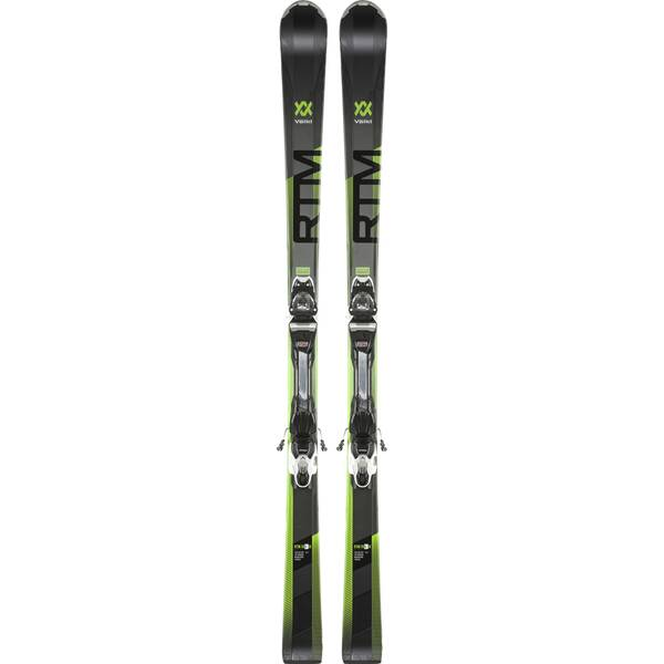 VÖLKL Kinder Racing Ski RTM 76 ELITE BLK/A.GREEN+VMOT 10 GW