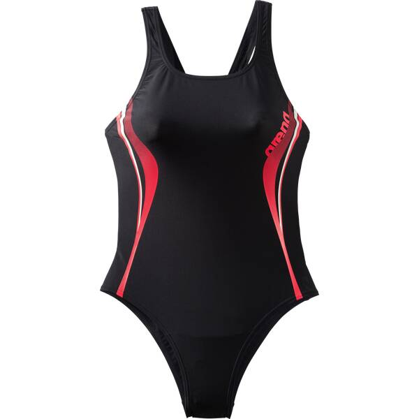 Bademode - ARENA Damen Schwimmanzug W FLAMES ONE PIECE › Schwarz  - Onlineshop Intersport
