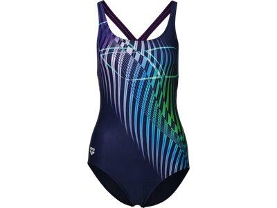 ARENA Damen Schwimmanzug OPTICAL WAVES SWIM PRO BACK Bunt
