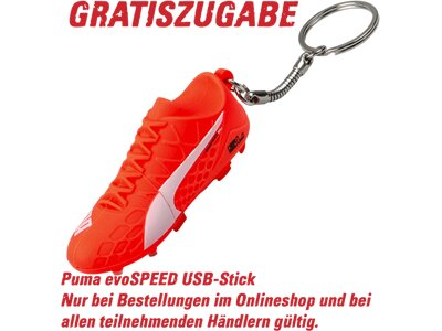 PUMA Kinder Fussball-Rasenschuhe EVOSPEED 5.4 FG JR Rot