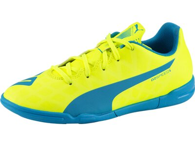 PUMA Kinder Fussball-Hallenschuhe EVOSPEED 5.4 IT JR Gelb