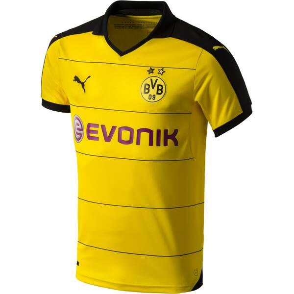 PUMA Herren Fantrikot BVB Home Replica | Sportbekleidung > Sportshirts > Fanshirts | Gelb - Schwarz | Puma