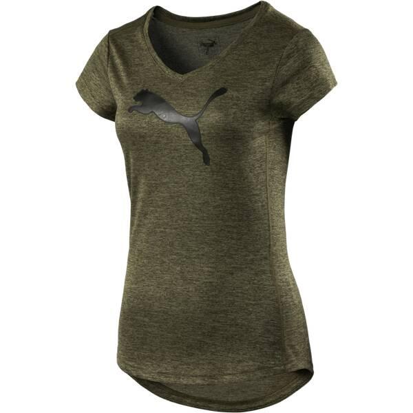 PUMA Damen Trainingsshirt Cat Kurzarm Oliv