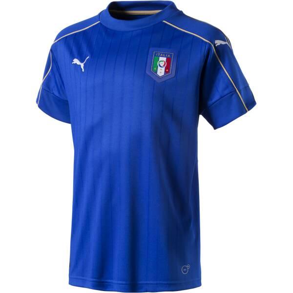 PUMA Kinder Fantrikot Italia Home Blau