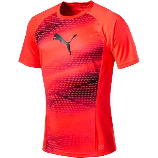 Puma Herren T-Shirt evoTRG Graphic Tee Rot