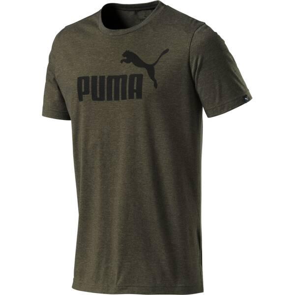 Puma Herren T-Shirt ESS No.1 Heather Tee Braun
