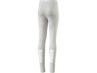 Puma Kinder Tight Style Leggings Silber